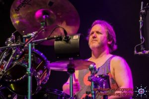 Jon Fishman of Phish playing drums